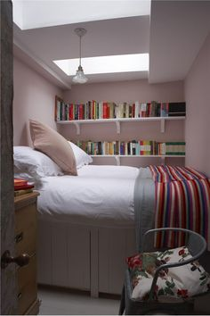 Small simple child's bedroom in Calamine Pink