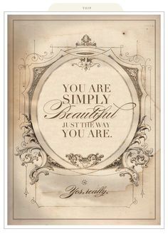 Beautiful Just the Way You Are!