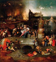 ヒエロニムス・ボス Hieronymus Bosch 聖アントニウスの誘惑(中央) The Temptation of St. Anthony center