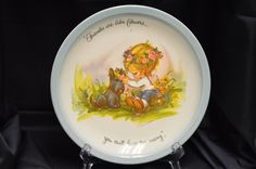 "Gigi Collector's Edition ""Friends Are Like Flowers...You Can't Have Too Many"" Plate Vintage Item #3193 by BigBlossomAntiques on Etsy"