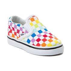 Toddler Vans Slip On Rainbow Chex Skate Shoe - Multi - 99498267