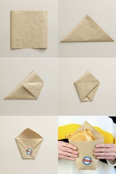 - (notitle) - in 2020 - (notitle) - in 2020 Bakery Packaging, Cookie Packaging, Food Packaging Design, Sandwich Packaging, Diy And Crafts, Arts And Crafts, Paper Crafts, Diy Paper Bag, Diy Snacks