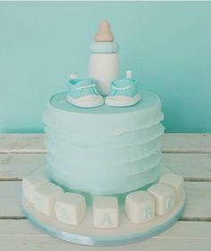 : @caketreemnl. #beautiful #blue #itsaboy #cake #blå #kake #tåteflaske #baby #gutt #boy #dinbabyshower #detlilleekstra #inspiration #inspirasjon #babykake #babyshower #dåp #navnefest Cake, Instagram Posts, Desserts, Food, Tailgate Desserts, Deserts, Kuchen, Essen, Postres