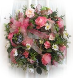 Silk Mesh Wreaths for all holidays by Southern Charm Wreaths