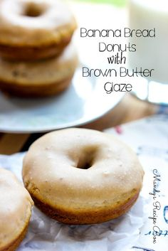 These Banana Bread Donuts are perfect for breakfast or dessert. They also work as muffins if you don't have a donut pan. Sweet!