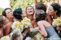 Cute bridal party photo. Love Shack Photo.