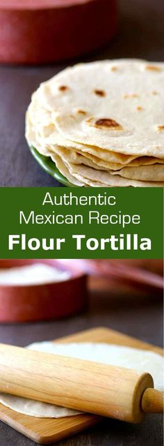 A flour tortilla or tortilla de harina is a thin flat bread from Mexico which is used in recipes such as burritos or tacos. #bread #flatbread #mexico