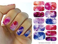 Water Transfer Foil Nails Art Sticker Colored Bright Crystal Design Nail Sticker Manicure Decor Tools Nail Wraps Decals Patch >>> Learn more by visiting the image link.