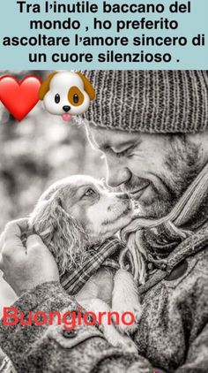 Bellissime immagini per Buongiorno 8716 Cute Cats And Dogs, Animals And Pets, Gustav Klimt, Sweet Dreams, True Love, Good Morning, Dog Cat, Best Friends, Creatures