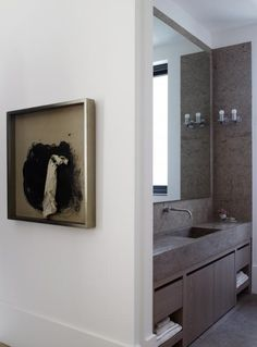 Sink/vanity.  Trough sink would look wonderful here in the master bath with this vanity.