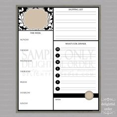 11x14 Tan Damask All-In-One Message Center (JPEG Digital File) - Instant Download - You Print - You Frame