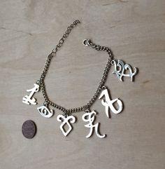 Shadowhunter Rune Bracelet Charm Bracelet Parabatai by TinkerHome