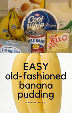 Easy Old-Fashioned Banana Pudding - Just 7 Ingredients! Easy Old-Fashioned Banana Pudding - Just 7 Ingredients! Magnolia Bakery Banana Pudding, No Bake Banana Pudding, Easy Pudding Recipes, Banana Pudding Cheesecake, Southern Banana Pudding, Keto Pudding, Avocado Pudding, Banana Recipes, Chia Pudding