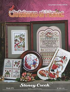 Cross Stitch Christmas Stocking -Book 375 Christmas at Home