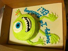 Mike Wazowski cake for Eli's first birthday!