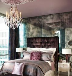 Sweet & Romantic Bedroom Colors - Urban Glam - Click Pic for 42 Romantic Master Bedroom Decor Ideas