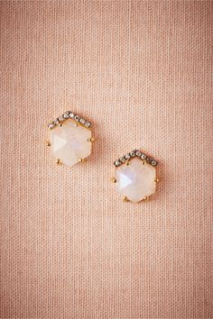 Adular Studs in Shoes & Accessories Jewelry at BHLDN