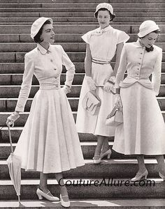 Couture Allure Vintage Fashion: Wearing White - 1948