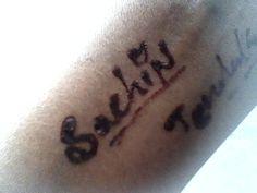 sachin tendulkar in my hand