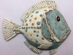 Most recent Photographs Ceramics sculpture fish Tips Small green spotty ceramic fish, ceramic wall art. Fish wall hung sculpture, Fish decor, Home decor Fish Wall Decor, Fish Wall Art, Fish Art, Fish Fish, Fish Sculpture, Sculptures, Clay Fish, Ceramic Wall Art, Ceramic Decor