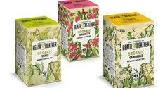 Heath & Heather beautiful tea packaging re-brand