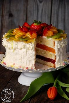 Good Food, Yummy Food, Party Buffet, Vanilla Cake, Birthday Cake, Tasty, Sweets, Meals, Cooking