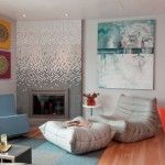 Marvelous Living Room Sporting an Array of Colors From Togo Sofa