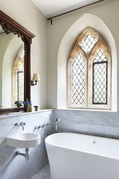 Bathroom in a former church
