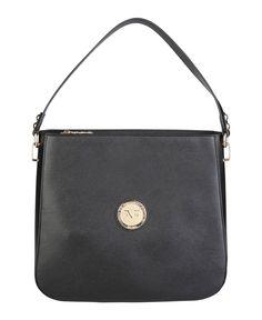 Versace 1969 abbigliamento sportivo srl milano italia - borsa a spalla - materiale: eco - pelle - un manico - chiusura c - Borsa a spalla donna  Nero