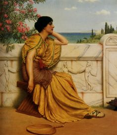 Dolce Far Niente - John William Godward - WikiPaintings.org