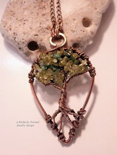 Wire Wrapped Tree of Life Pendant Necklace by PerfectlyTwisted