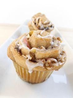 Autumn Cinnamon Roll Cupcakes