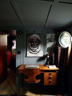 dutch barge in paris {richard powers/the guardian}