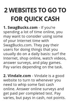 2 Websites To Go To For Quick Cash – Wisdom Lives Here – – Make Money from Home Ways To Earn Money, Earn Money From Home, Earn Money Online, Money Tips, Way To Make Money, How To Make, Legit Work From Home, Work From Home Jobs, Haut Routine