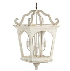 Illuminate your entryway with this classic white, vintage style chandelier. Dimensions: inch x inch x inch Bulbs: 4 candelabra bulbs ( not included) 40 watt max UL Listed This item ships in 5 - 7 business days Wooden Shades, White Lanterns, Light, Lantern Lights, Iron Lighting, Lantern Chandelier, Light Fixtures, Lights, Ceiling Lights