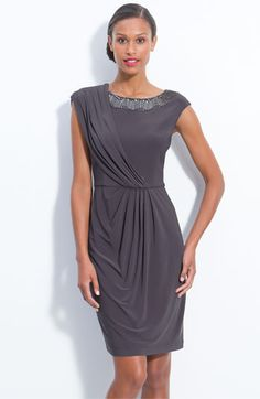 mother of the bride dress for casual yellow & gray outdoor wedding!