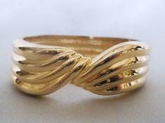Vintage Modernist Polished Gold Tone Twist by MemawsTopDrawer