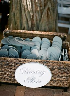 flip flops for the reception