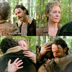 Rick and Carol share a moment together in Season 5 premiere, 'No Sanctuary'.   Looks like all is forgiven...