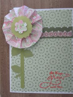 Paper Flower Greeting Card  www.caguimbalcreations.weebly.com