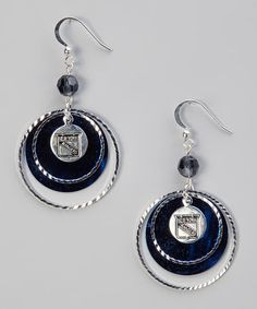 Take a look at this New York Rangers Game Day Earrings by LogoArt on #zulily today!