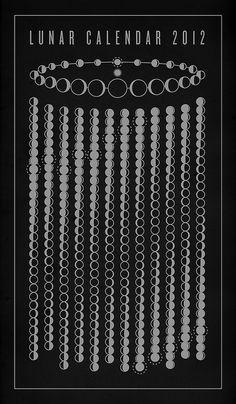 Lunar Calendar 2012 by Michæl Paukner, via Flickr
