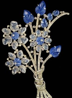 Trifari Moonstone Brooch