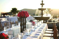Wedding, Flowers, Reception, Pink, White, Blue, Gold, Tables