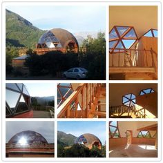 Geodesic Dome Greenhouse, Geodesic Dome Homes, Green Building, Building A House, Garden Igloo, Dome House, Earthship, Hobby Farms, Exterior