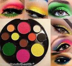 NEW Cosmetics Eye shadow Color Makeup Assorted NEON MATTE Eyeshadow Palette