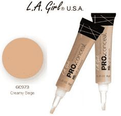 Girl Pro Conceal HD 973 Creamy Beige Pack) L. Girl Pro Conceal HD Creamy Beige 973 Pack), Crease resistant, opaque coverage in a creamy yet Too Faced Concealer, Best Concealer, Best Beauty Tips, Beauty Hacks, L A Girl Cosmetics, Best Makeup Products, Pure Products, Health Products, Beige