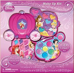 Disney Princess Makeup Kit Gift Set in Slide Out Case ** Discover this special product, click the image : All Makeup Items List Barbie Makeup, Makeup Kit, Princess Style, Little Princess, Disney Princess Makeup, Disney Dress Up, Makeup Items, Disney Style, Gifts
