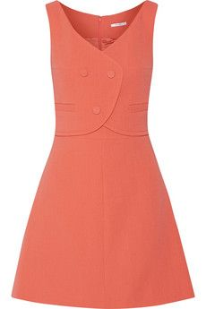 Carven Wool-crepe mini dress | THE OUTNET