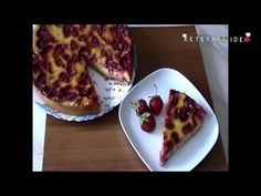 Reteta culinara Tarta cu Capsuni si Sufleu de Smantana (Video) din categoria Prajituri. Cum sa faci Tarta cu Capsuni si Sufleu de Smantana (Reteta Video) Baba, French Toast, Cakes, Breakfast, Food, Morning Coffee, Mudpie, Cake, Meals